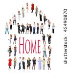 our home is what we are | Shutterstock . vector #42490870