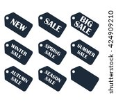 discount sale price tags labels ... | Shutterstock .eps vector #424909210