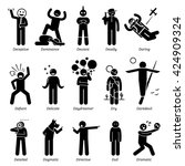 neutral personalities character ... | Shutterstock . vector #424909324