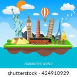 travel to world.  | Shutterstock . vector #424910929