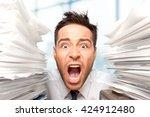 emotional stress. | Shutterstock . vector #424912480