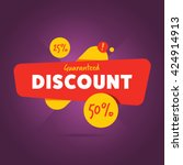 special offer sale tag discount ... | Shutterstock .eps vector #424914913