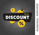 special offer sale tag discount ... | Shutterstock .eps vector #424914919