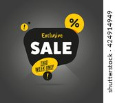 special offer sale tag discount ... | Shutterstock .eps vector #424914949