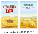 Countryside Landscape Vector...