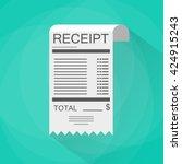 receipt icon. invoice icon.... | Shutterstock . vector #424915243