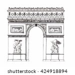 hand drawn architecture sketch... | Shutterstock .eps vector #424918894