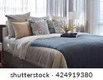 luxury bedroom interior design... | Shutterstock . vector #424919380