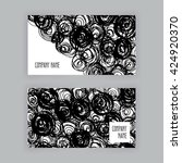 two business cards of abstract... | Shutterstock .eps vector #424920370