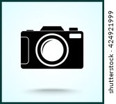 photo camera sign icon  vector... | Shutterstock .eps vector #424921999