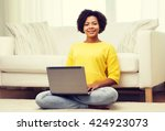 people  technology and leisure... | Shutterstock . vector #424923073