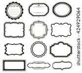 vector frame labels set... | Shutterstock .eps vector #424929064