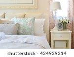 vintage bedroom interior with... | Shutterstock . vector #424929214