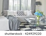 Light Gray L Shape Sofa Set...