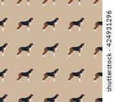 hound dog whippet seamless...   Shutterstock .eps vector #424931296