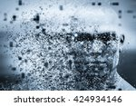 man face with pixel dispersion... | Shutterstock . vector #424934146