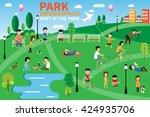 infographics of people having... | Shutterstock .eps vector #424935706