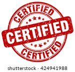certified. stamp | Shutterstock .eps vector #424941988