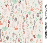 seamless pattern design with... | Shutterstock .eps vector #424942096