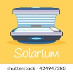 solarium. vector flat cartoon... | Shutterstock .eps vector #424947280