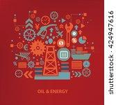 oil and energy concept design... | Shutterstock .eps vector #424947616