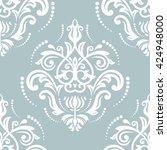 oriental vector classic pattern.... | Shutterstock .eps vector #424948000