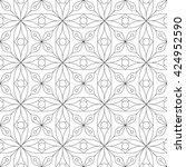 monochrome geometric seamless... | Shutterstock .eps vector #424952590