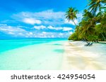 Beautiful Tropical Beach And...