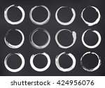 vector zen circles set on... | Shutterstock .eps vector #424956076