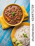 rajma or razma is a popular... | Shutterstock . vector #424971739