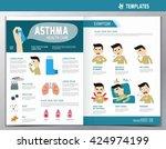 asthma infographic. flyer...   Shutterstock .eps vector #424974199