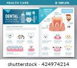leaflet of dental clinic... | Shutterstock .eps vector #424974214