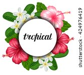 background with tropical...   Shutterstock .eps vector #424976419