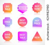 vector stickers  price tag ... | Shutterstock .eps vector #424982980