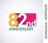 template logo 82nd anniversary  ...   Shutterstock .eps vector #424991296