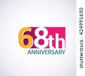 template logo 68th anniversary  ... | Shutterstock .eps vector #424991650