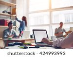 coworking station. modern... | Shutterstock . vector #424993993