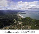 aerial view of sao sebastiao...   Shutterstock . vector #424998190