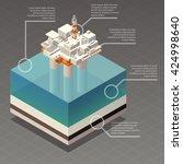 isometric oil platform rig... | Shutterstock .eps vector #424998640