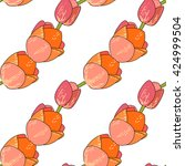 seamless floral pattern with... | Shutterstock .eps vector #424999504