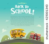 back to school  wide copy space ... | Shutterstock .eps vector #425001340