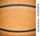 close up of old basketball... | Shutterstock . vector #425002870