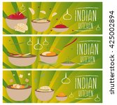 set of banners for theme indian ... | Shutterstock .eps vector #425002894