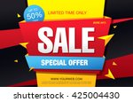 sale banner  poster. sale...   Shutterstock .eps vector #425004430