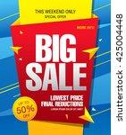 big sale banner  poster. sale... | Shutterstock .eps vector #425004448