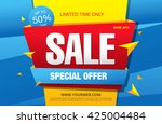 sale banner  poster. sale... | Shutterstock .eps vector #425004484