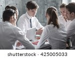 group of business people... | Shutterstock . vector #425005033