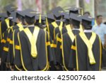 blurry of graduates are walking ... | Shutterstock . vector #425007604