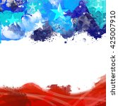 Stock photo a header footer illustration with united states flag colors on memorial day 425007910