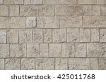 Wall Made From Limestone Brick...